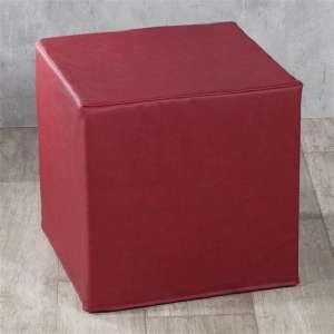 Pokrowiec na pufę kostke kostka 40x40x40 cm w kolekcji Eco-leather do -30%, tkanina: 104-49