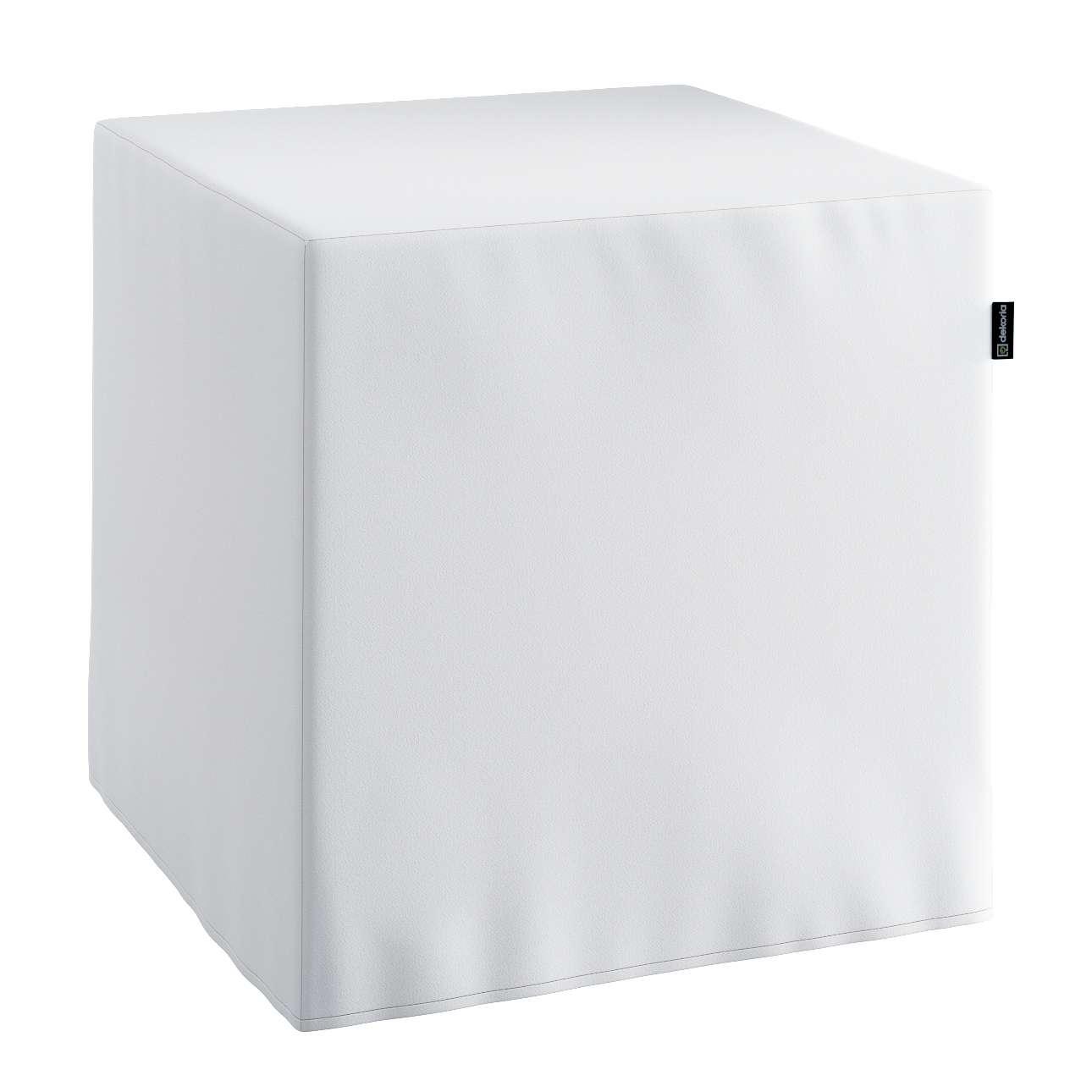 Pokrowiec na pufę kostke kostka 40x40x40 cm w kolekcji Comics, tkanina: 139-00