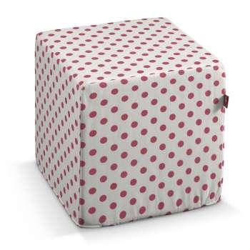 Pokrowiec na pufę kostke kostka 40x40x40 cm w kolekcji Ashley, tkanina: 137-70