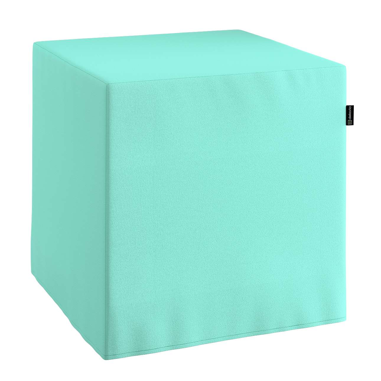 Pokrowiec na pufę kostke w kolekcji Loneta, tkanina: 133-32