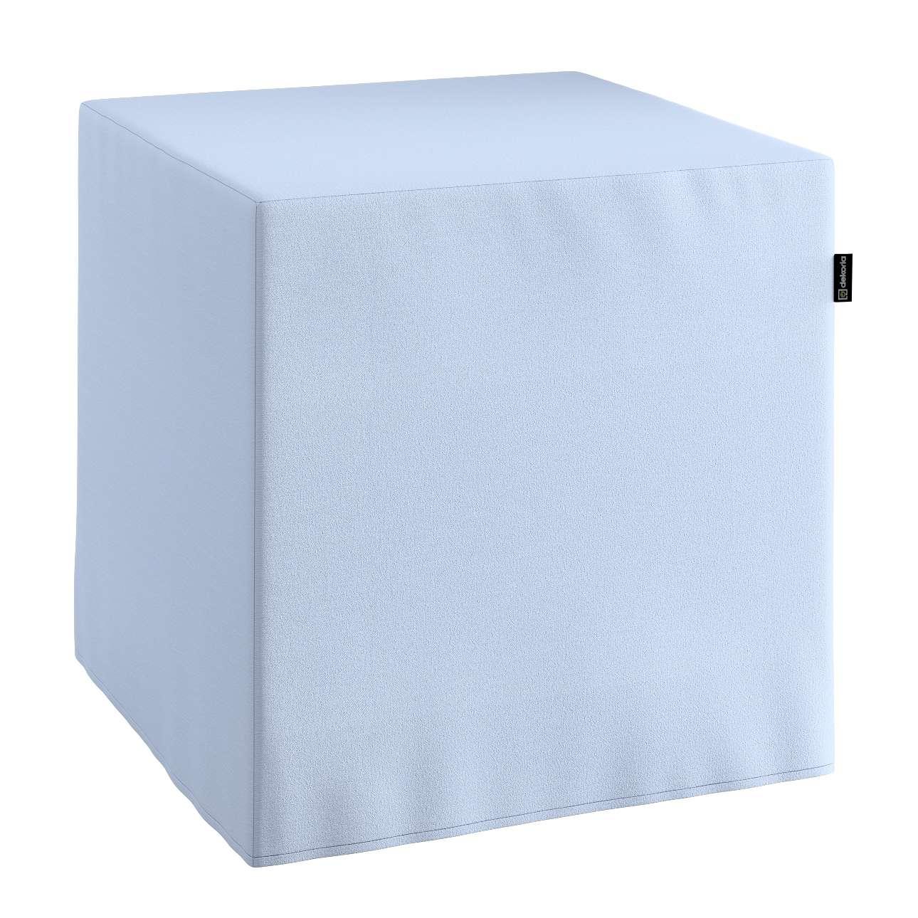 Pokrowiec na pufę kostke kostka 40x40x40 cm w kolekcji Loneta, tkanina: 133-35