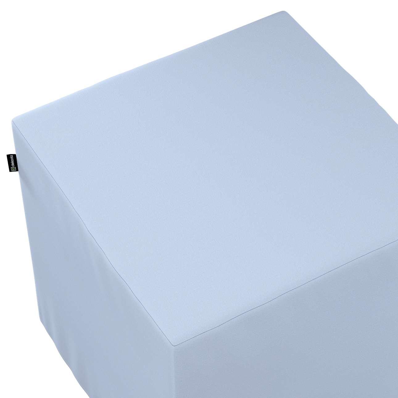 Pokrowiec na pufę kostkę w kolekcji Loneta, tkanina: 133-35