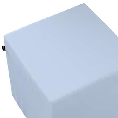 Pokrowiec na pufę kostkę 133-35 pastelowy niebieski Kolekcja Loneta