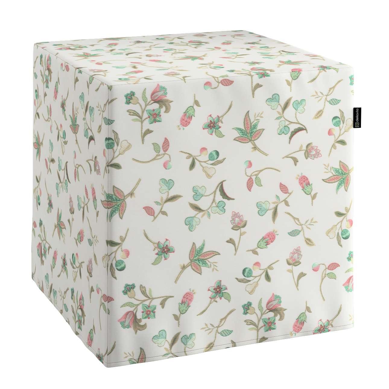 Trekk til sitttepuff 40x40x40 cm fra kolleksjonen Londres , Stoffets bredde: 122-02