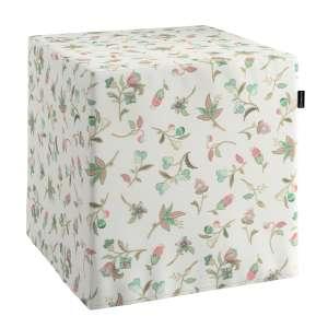 Pokrowiec na pufę kostke kostka 40x40x40 cm w kolekcji Londres, tkanina: 122-02