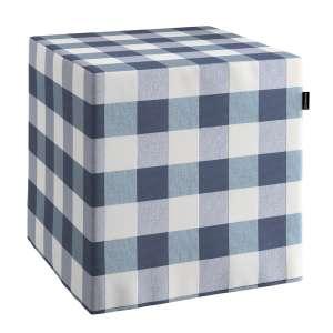 Pokrowiec na pufę kostke kostka 40x40x40 cm w kolekcji Quadro, tkanina: 136-03