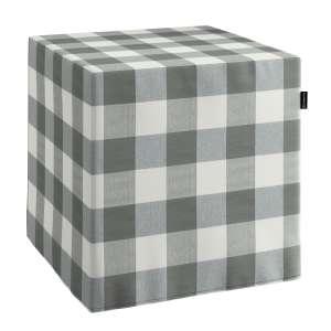 Pokrowiec na pufę kostke kostka 40x40x40 cm w kolekcji Quadro, tkanina: 136-13