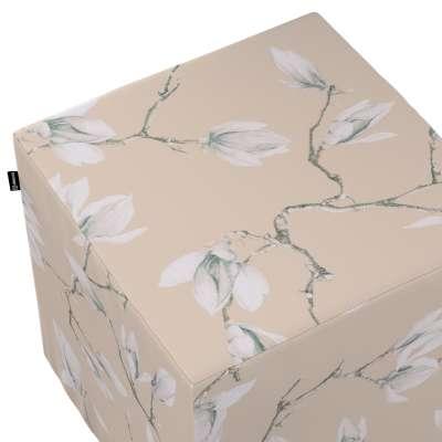 Pokrowiec na pufę kostkę 311-12 magnolie na beżowym tle Kolekcja Flowers