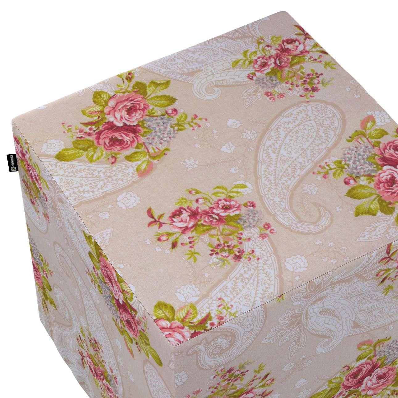 Pokrowiec na pufę kostkę w kolekcji do -50%, tkanina: 311-15