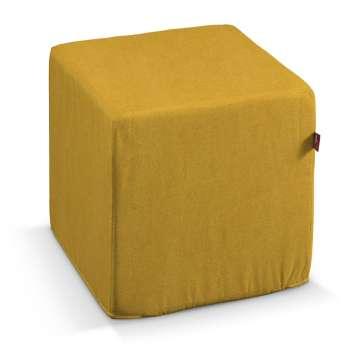 Pufo užvalkalas 40x40x40 cm kubas kolekcijoje Etna , audinys: 705-04