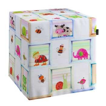 Pokrowiec na pufę kostke kostka 40x40x40 cm w kolekcji Apanona do -30%, tkanina: 151-04