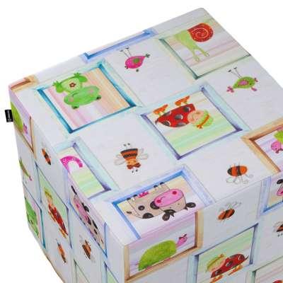 Pokrowiec na pufę kostkę w kolekcji Little World, tkanina: 151-04