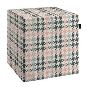 Pokrowiec na pufę kostke kostka 40x40x40 cm w kolekcji Brooklyn, tkanina: 137-75