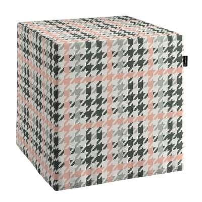 Pokrowiec na pufę kostkę w kolekcji Wyprzedaż do -50%, tkanina: 137-75