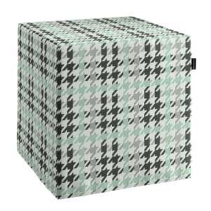 Pokrowiec na pufę kostke kostka 40x40x40 cm w kolekcji Brooklyn, tkanina: 137-77