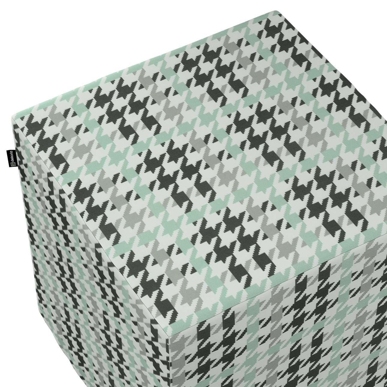 Pokrowiec na pufę kostkę w kolekcji Wyprzedaż do -50%, tkanina: 137-77