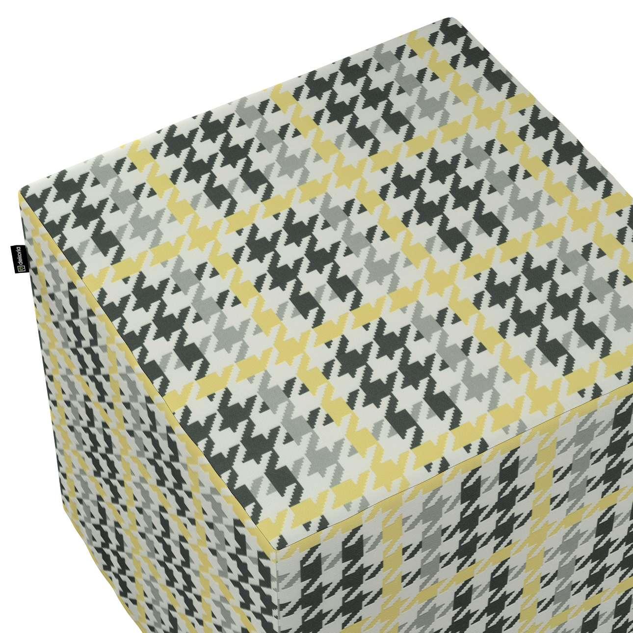 Pokrowiec na pufę kostkę w kolekcji do -50%, tkanina: 137-79