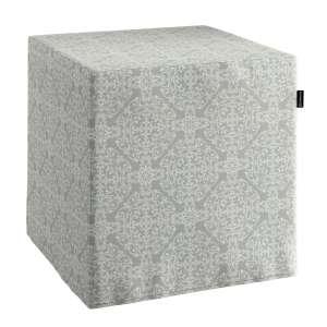 Pokrowiec na pufę kostke kostka 40x40x40 cm w kolekcji Flowers, tkanina: 140-38