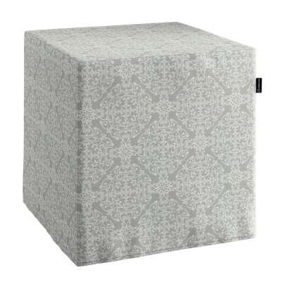 Bezug für Sitzwürfel von der Kollektion Flowers, Stoff: 140-38