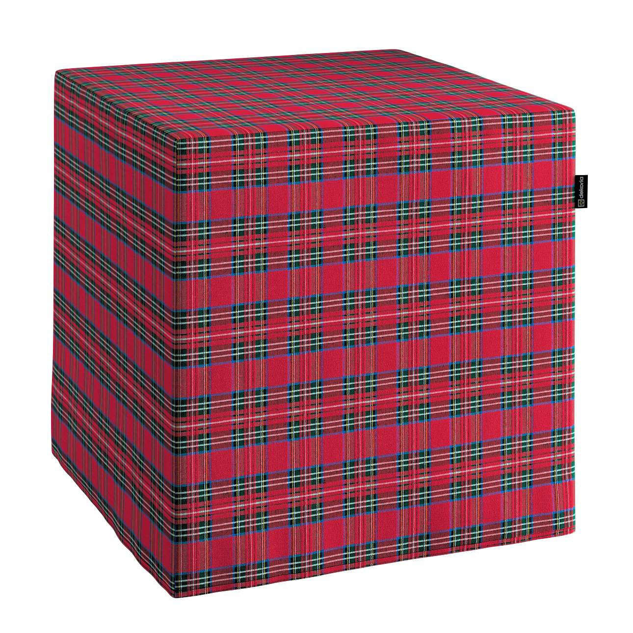 Pufo užvalkalas 40x40x40 cm kubas kolekcijoje Christmas, audinys: 126-29