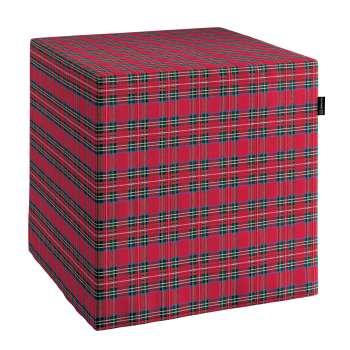 Pokrowiec na pufę kostke kostka 40x40x40 cm w kolekcji Bristol, tkanina: 126-29