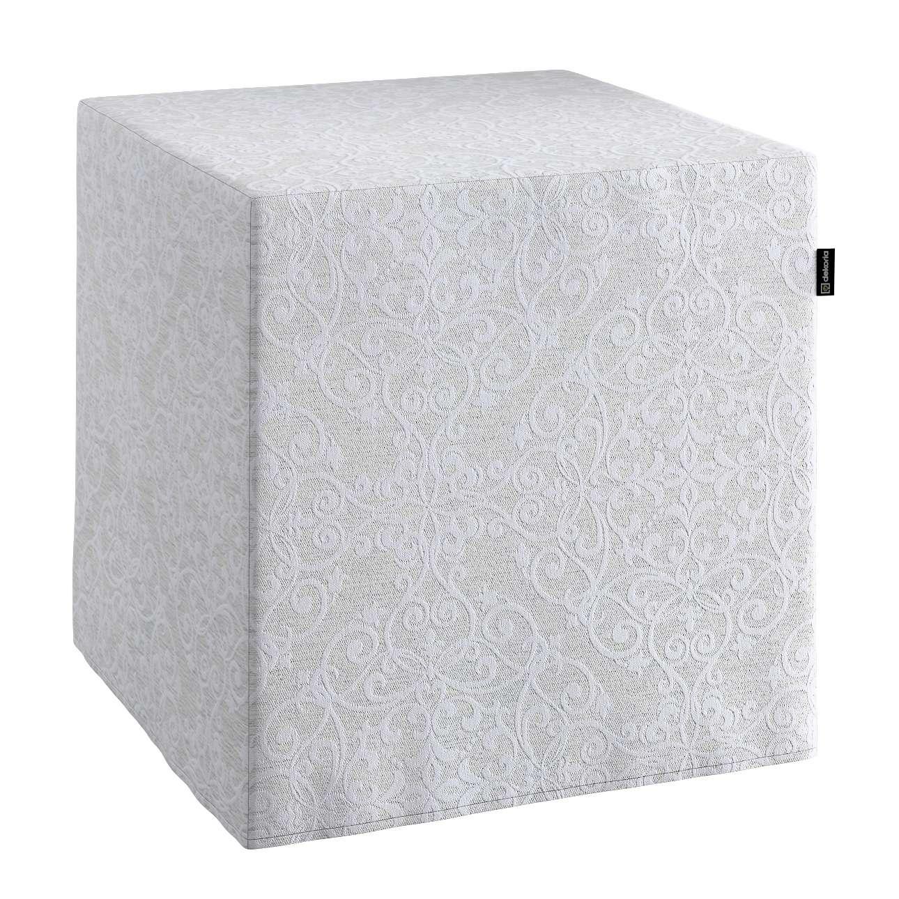 Pokrowiec na pufę kostke w kolekcji Venice, tkanina: 140-49