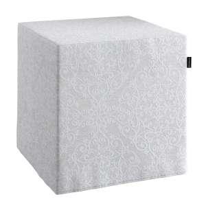 Pokrowiec na pufę kostke kostka 40x40x40 cm w kolekcji Venice, tkanina: 140-49