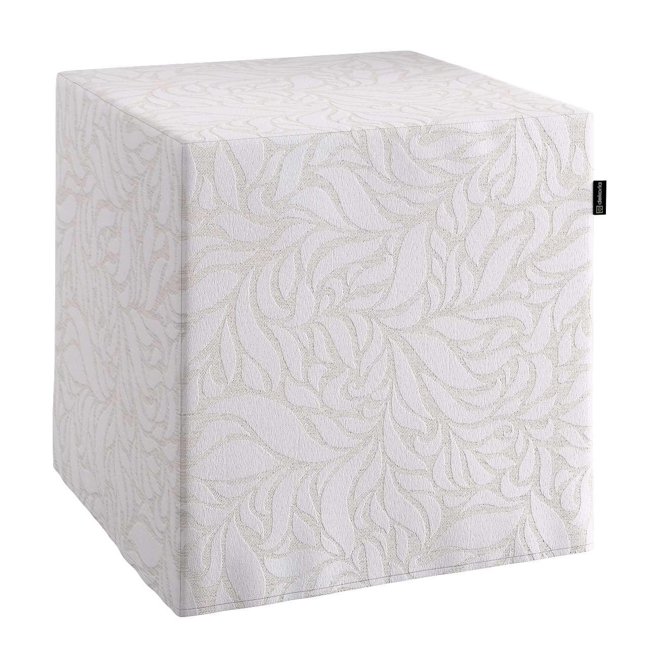 Pokrowiec na pufę kostke kostka 40x40x40 cm w kolekcji Venice, tkanina: 140-50