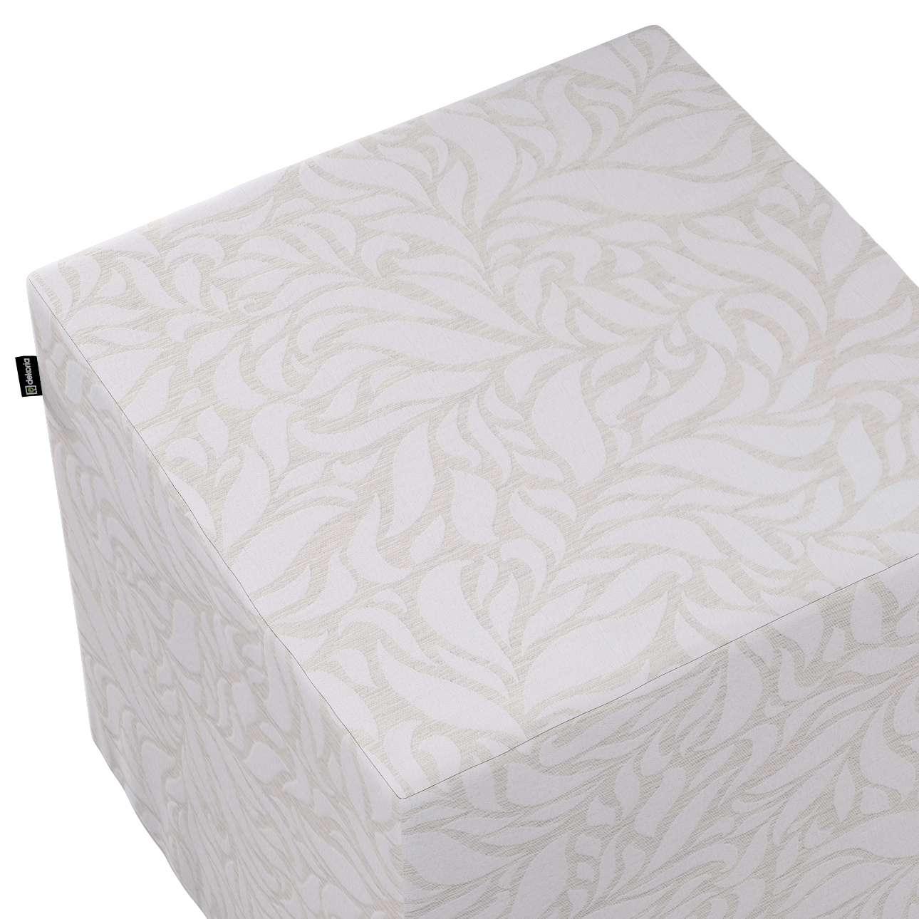Pokrowiec na pufę kostkę w kolekcji Venice, tkanina: 140-50