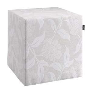 Pokrowiec na pufę kostke kostka 40x40x40 cm w kolekcji Venice, tkanina: 140-51