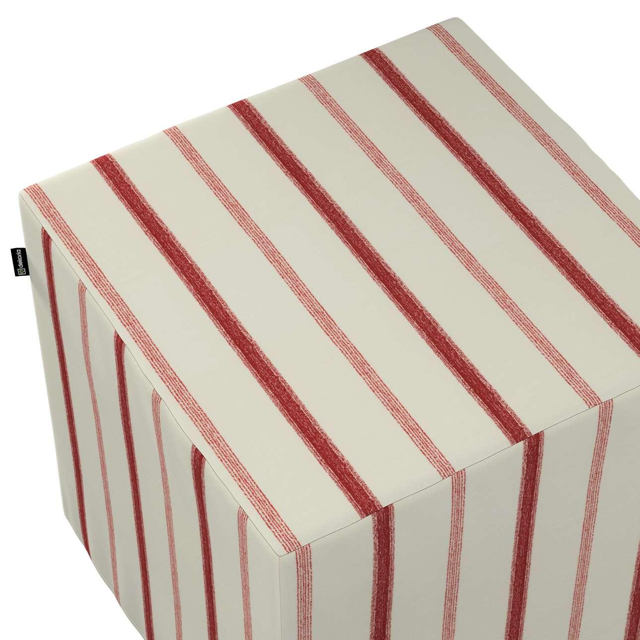 Pokrowiec na pufę kostkę w kolekcji Avinon, tkanina: 129-15