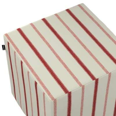 Hoes voor zitkubus 129-15 creme-rood Collectie Avinon