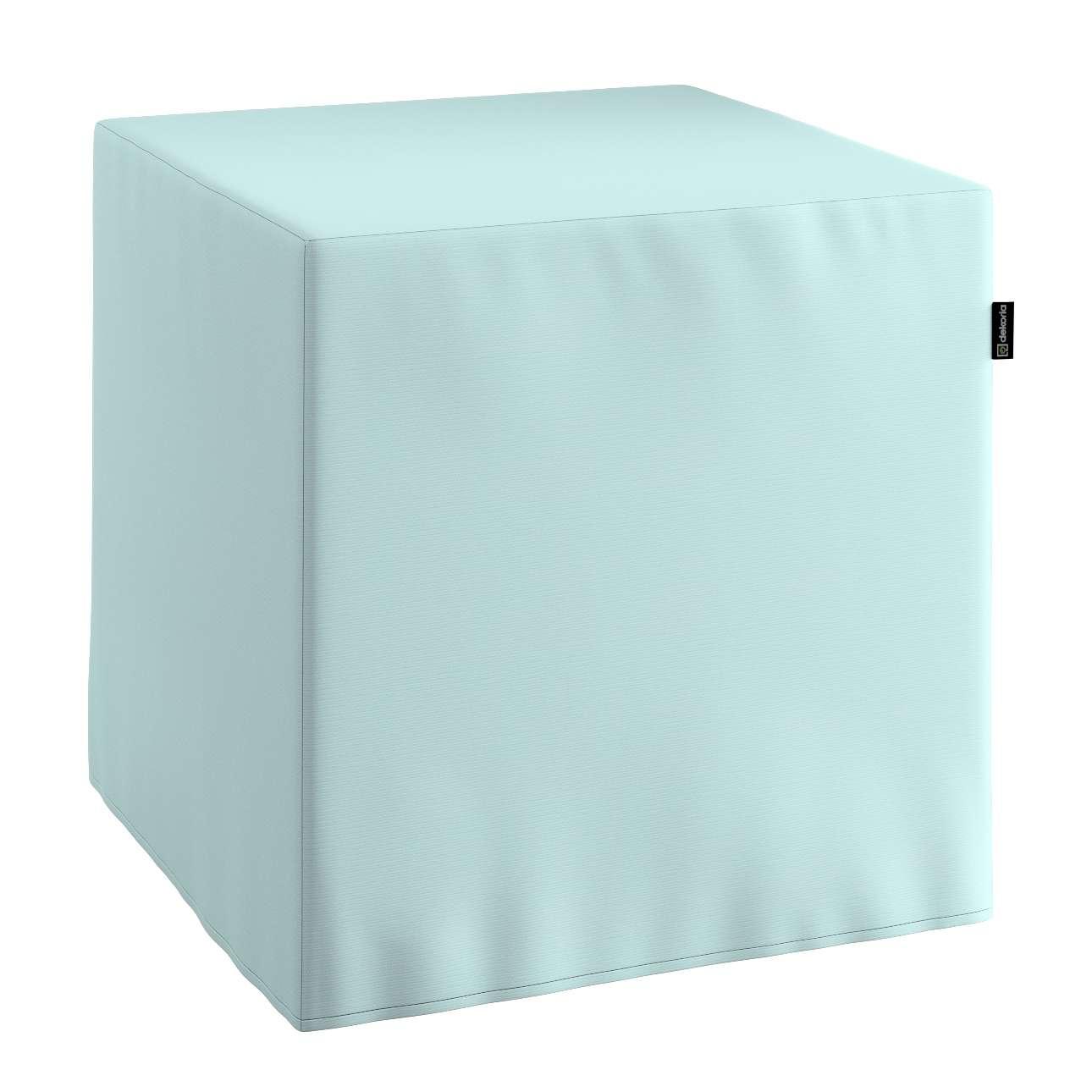 Pokrowiec na pufę kostke kostka 40x40x40 cm w kolekcji Cotton Panama, tkanina: 702-10