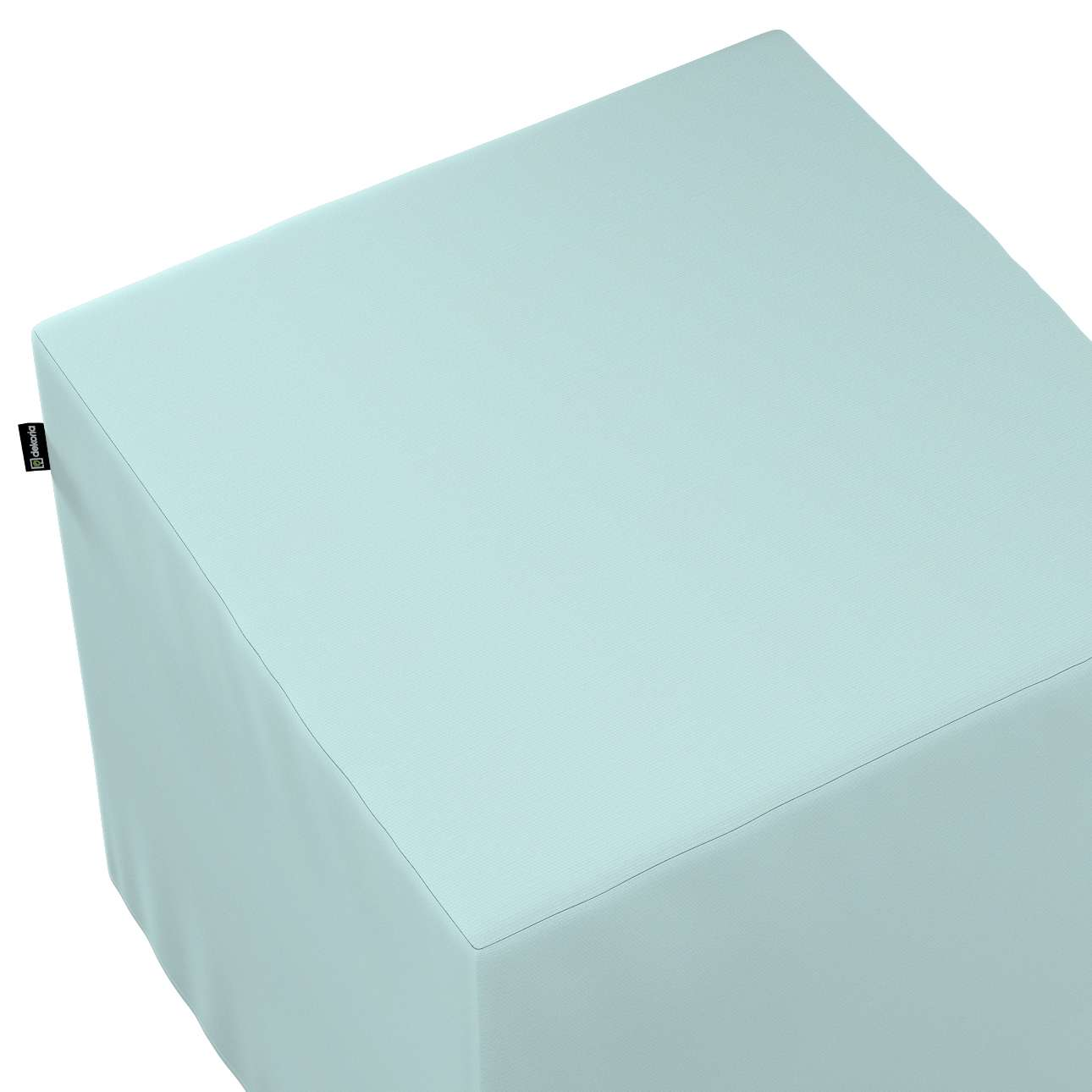 Betræk til siddepuf fra kollektionen Cotton Panama, Stof: 702-10