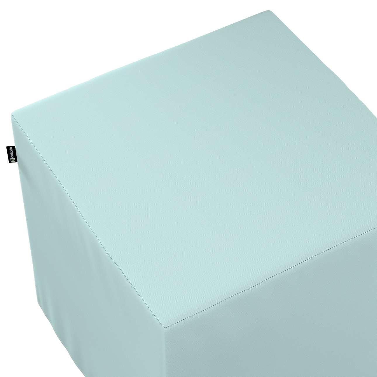 Pokrowiec na pufę kostkę w kolekcji Cotton Panama, tkanina: 702-10
