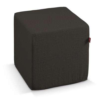 Pokrowiec na pufę kostkę w kolekcji Etna, tkanina: 702-36