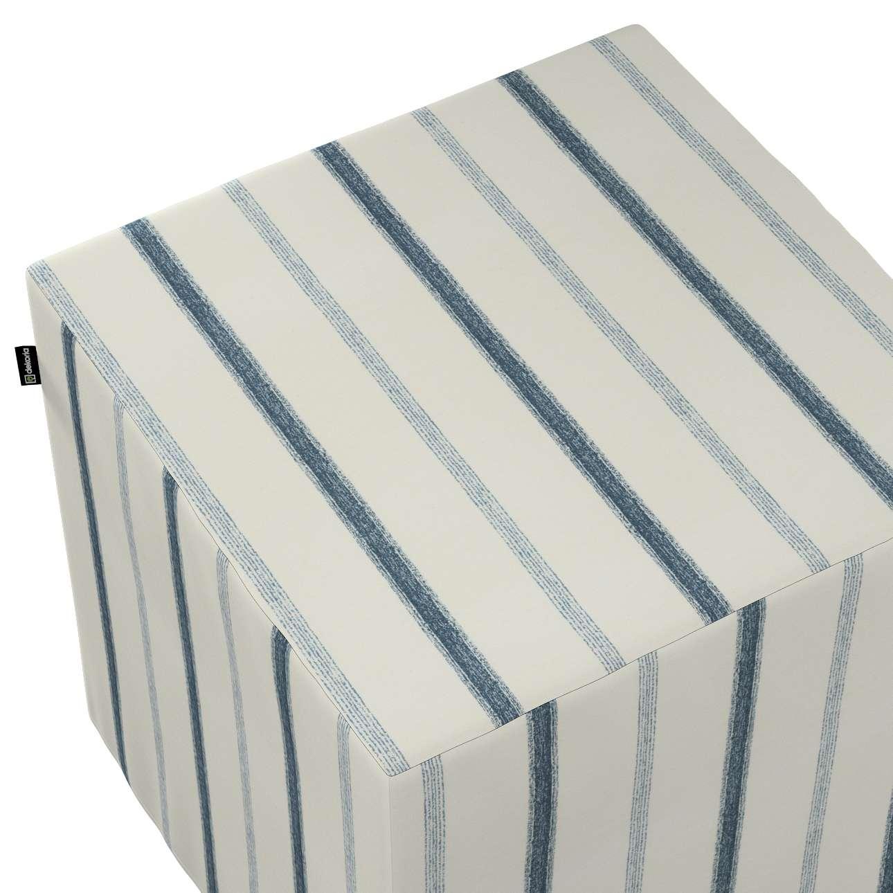 Pokrowiec na pufę kostkę w kolekcji Avinon, tkanina: 129-66