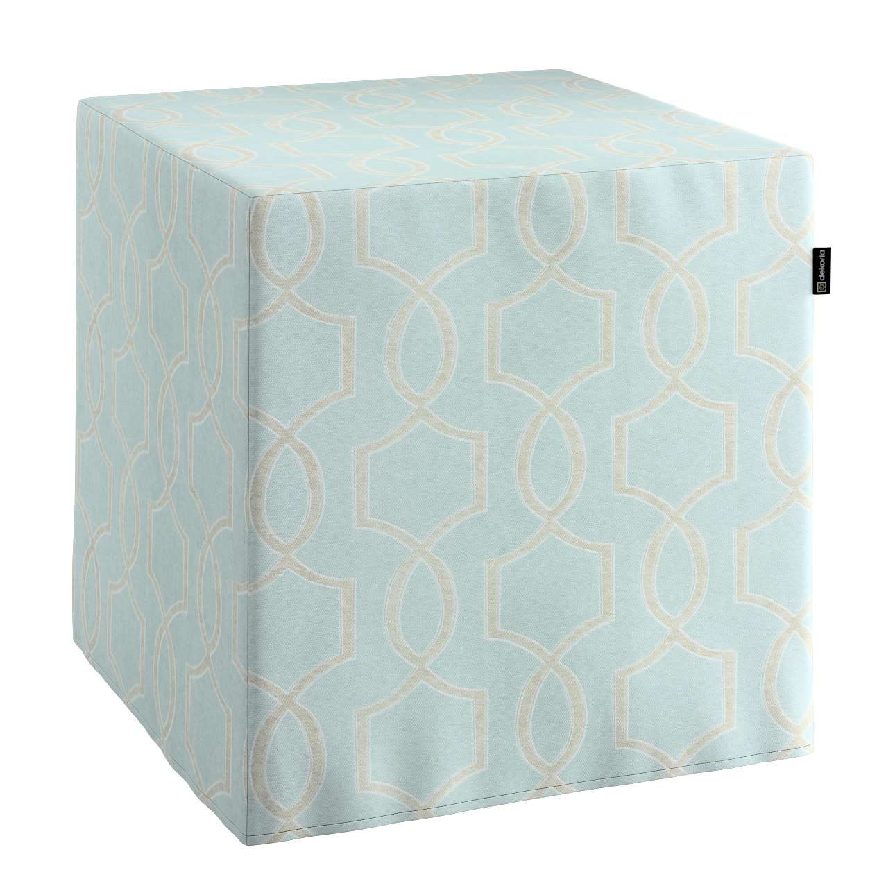 Pokrowiec na pufę kostke kostka 40x40x40 cm w kolekcji Comics, tkanina: 141-24