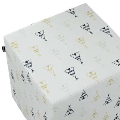 Pokrowiec na pufę kostkę w kolekcji Adventure, tkanina: 141-84
