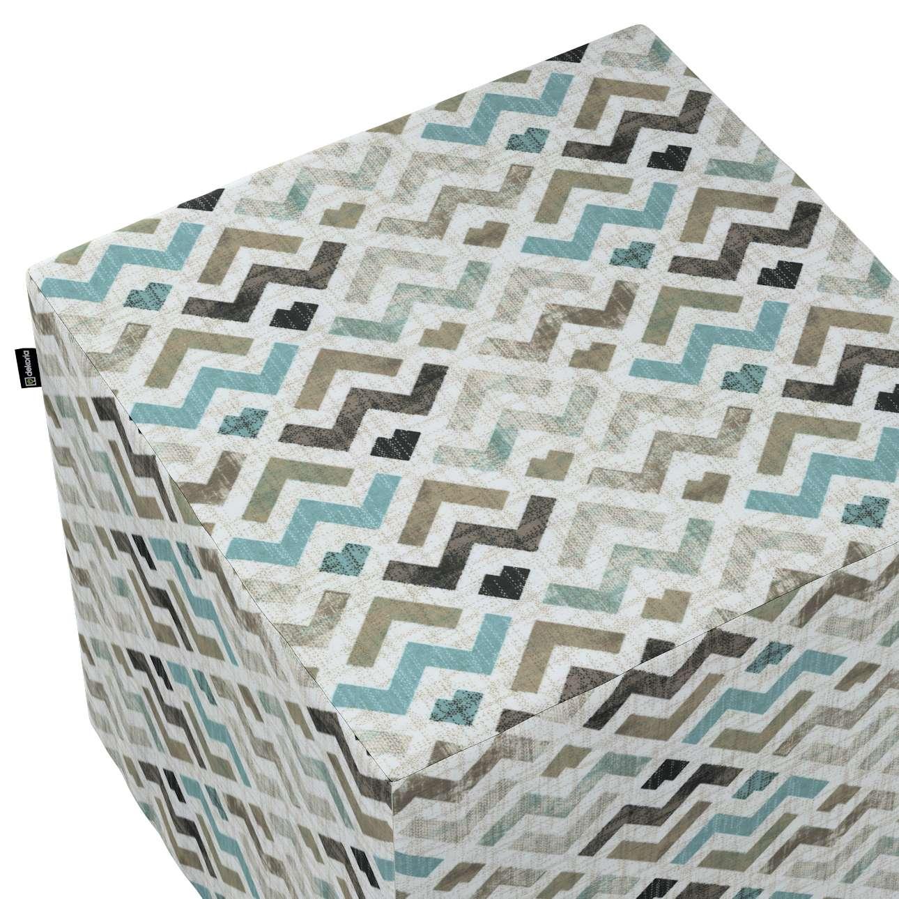 Pokrowiec na pufę kostkę w kolekcji Modern, tkanina: 141-93
