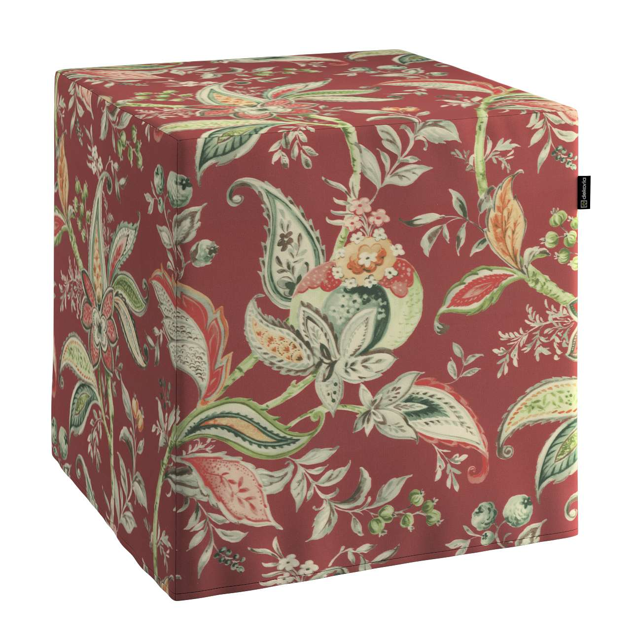 Pokrowiec na pufę kostkę w kolekcji Gardenia, tkanina: 142-12