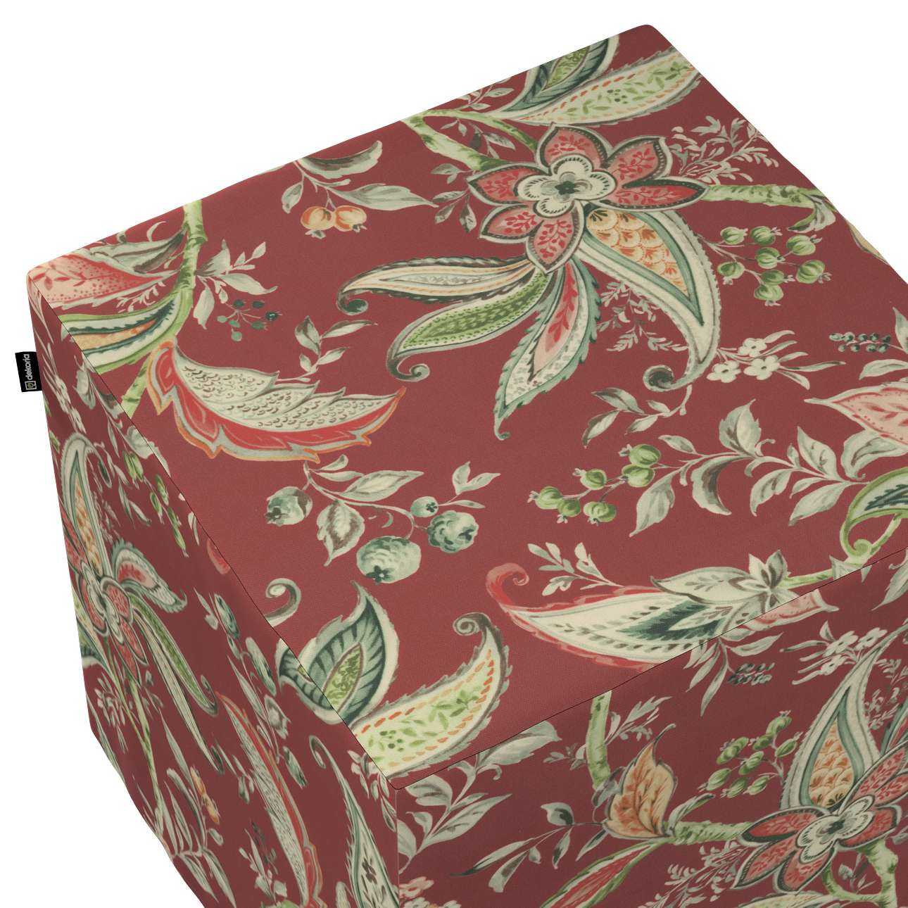 Betræk til siddepuf fra kollektionen Gardenia, Stof: 142-12