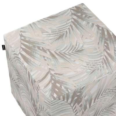 Pokrowiec na pufę kostkę w kolekcji Gardenia, tkanina: 142-14
