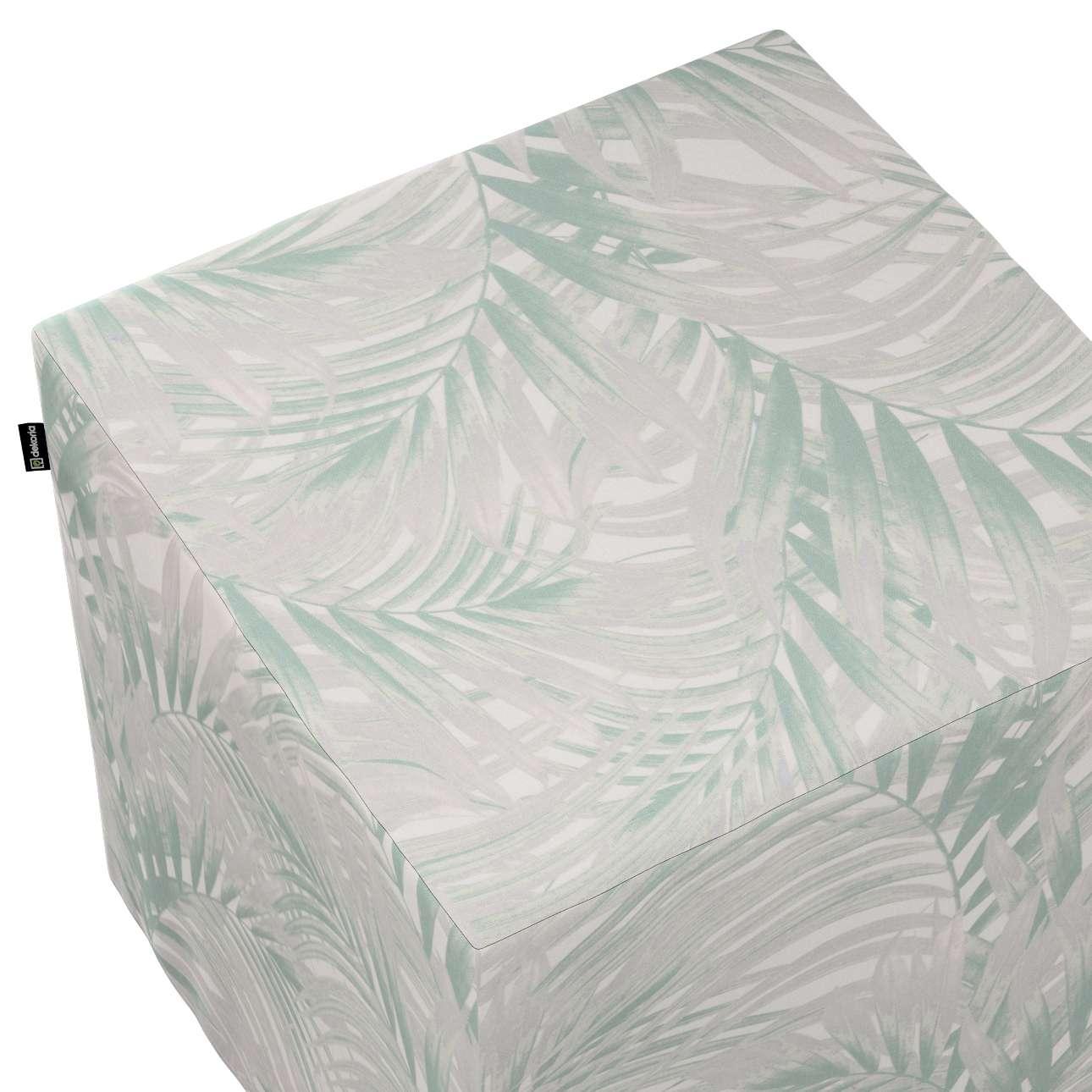 Betræk til siddepuf fra kollektionen Gardenia, Stof: 142-15