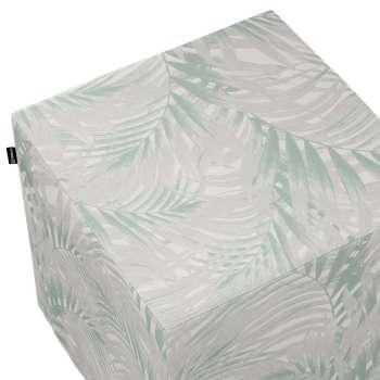 Pokrowiec na pufę kostkę w kolekcji Gardenia, tkanina: 142-15