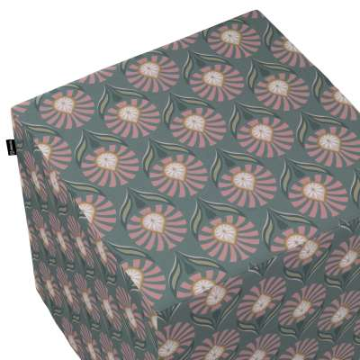 Hoes voor zitkubus 142-17 grijs-roze Collectie Gardenia