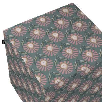 Pokrowiec na pufę kostkę w kolekcji Gardenia, tkanina: 142-17