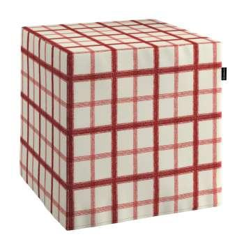 Pokrowiec na pufę kostke w kolekcji Avinon, tkanina: 131-15