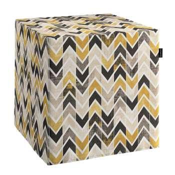 Pokrowiec na pufę kostkę w kolekcji Modern, tkanina: 142-79