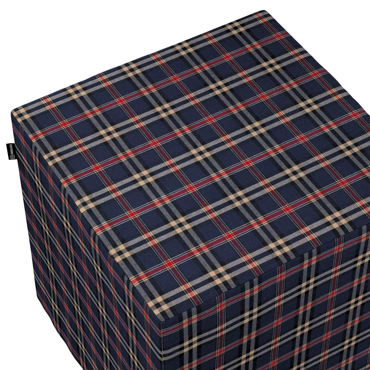 Pokrowiec na pufę kostkę w kolekcji Bristol, tkanina: 142-68